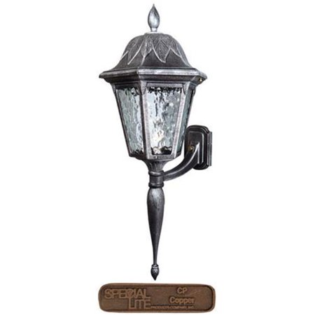 Floral Large Bottom Mount Light Fixture with Long Tail, Copper (Copper Gas Light Fixtures)