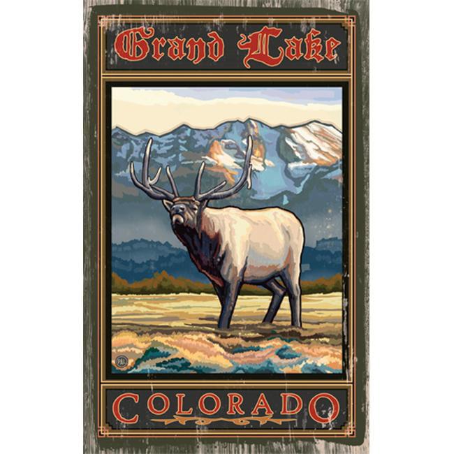 ArteHouse 0003-0493 Elk Planked Wood 14 x 23 Sign - image 1 de 1