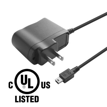 Insten MINI USB AC Wall Travel Charger Power Adapter for Canon Olympus Sony Digital Camera and All Mini B (5-Pin Male) enabled devices Universal (UL listed certification)