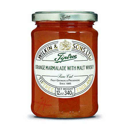 Marmalade 12 Ounce Jar (Tiptree Orange with Malt Whisky Fine Cut Marmalade 12 Ounce Jars (Pack of 2) )
