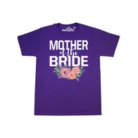 Mother of The Bride with Flower Illustration T-Shirt