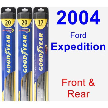 Fork Wiper - 2004 Ford Expedition Wiper Blade Set/Kit (Front & Rear) (3 Blades) - Hybrid