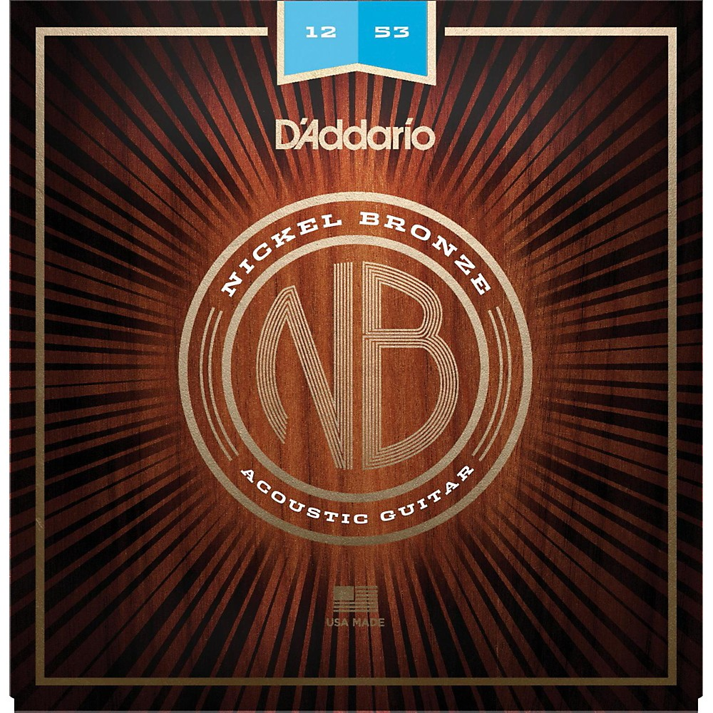 D'Addario NB1253 Nickel Bronze Light Acoustic Strings