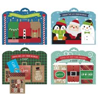 B-THERE Bundle of 24 Festive Gift Card Holders, Great for Christmas Time