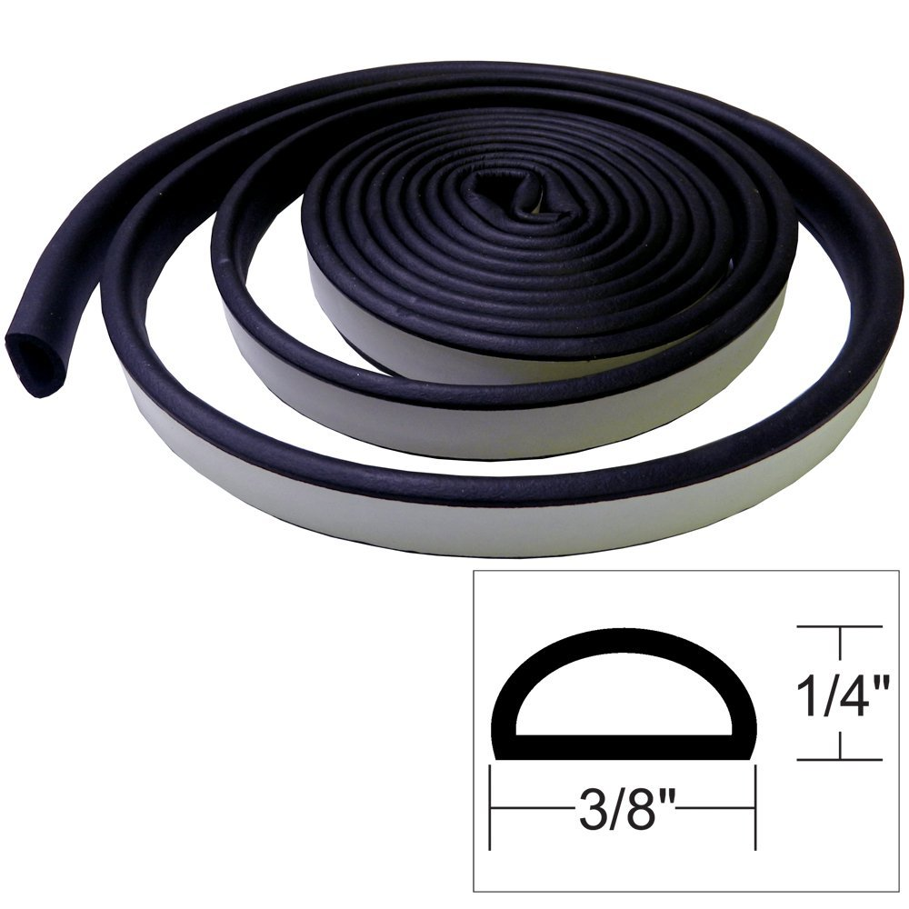 Weather Seal, RollPack Sweep Translucence138 Aluminum Stop WeatherSeal Interior Black Density Marine 14by12Inchby17 282433 Weatherstrip weather SelfAdhesive.., By Whitecap