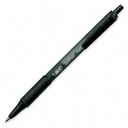 bic scsm11bk soft feel ballpoint retractable pen black ink medium dozen. Black Bedroom Furniture Sets. Home Design Ideas