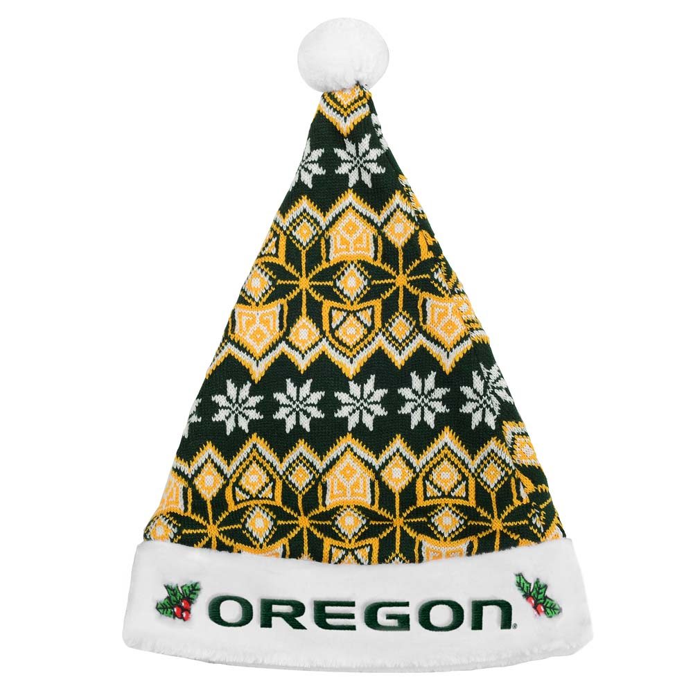 Oregon Ducks Knit Santa Hat 2015 by Forever Collectibles