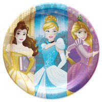 "9"" Disney Princess Paper Dinner Plates, 8-Count"