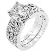 Icon Bijoux R08085R-C01-05 Eleanor Wedding Ring (Size: 05)