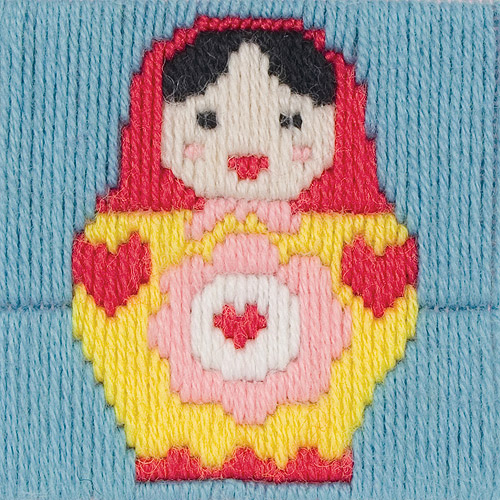 "Maia Maria 1st Kit 12-Count Stitched In Wool Long Stitch Kit, 4"" x 4"""