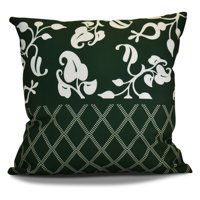 E by Design Lattice Floral Scroll Dot Print Outdoor Pillow