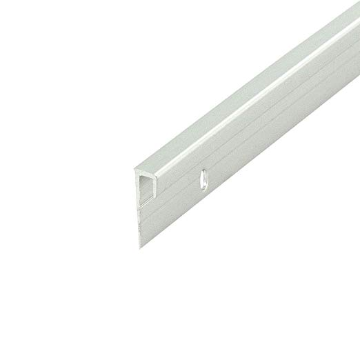 """Fits 1//4/"""" Clear Anodized 6 Foot Length Aluminum Channel: 1//2/"""" W x 1/"""" H x 1//8/"""""""