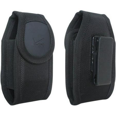 Verizon Housing - Verizon Rugged nylon case for small device - Black - Fits Convoy 4, DuraXV Plus, DuraXV, Convoy 3, DROID X, S4 mini