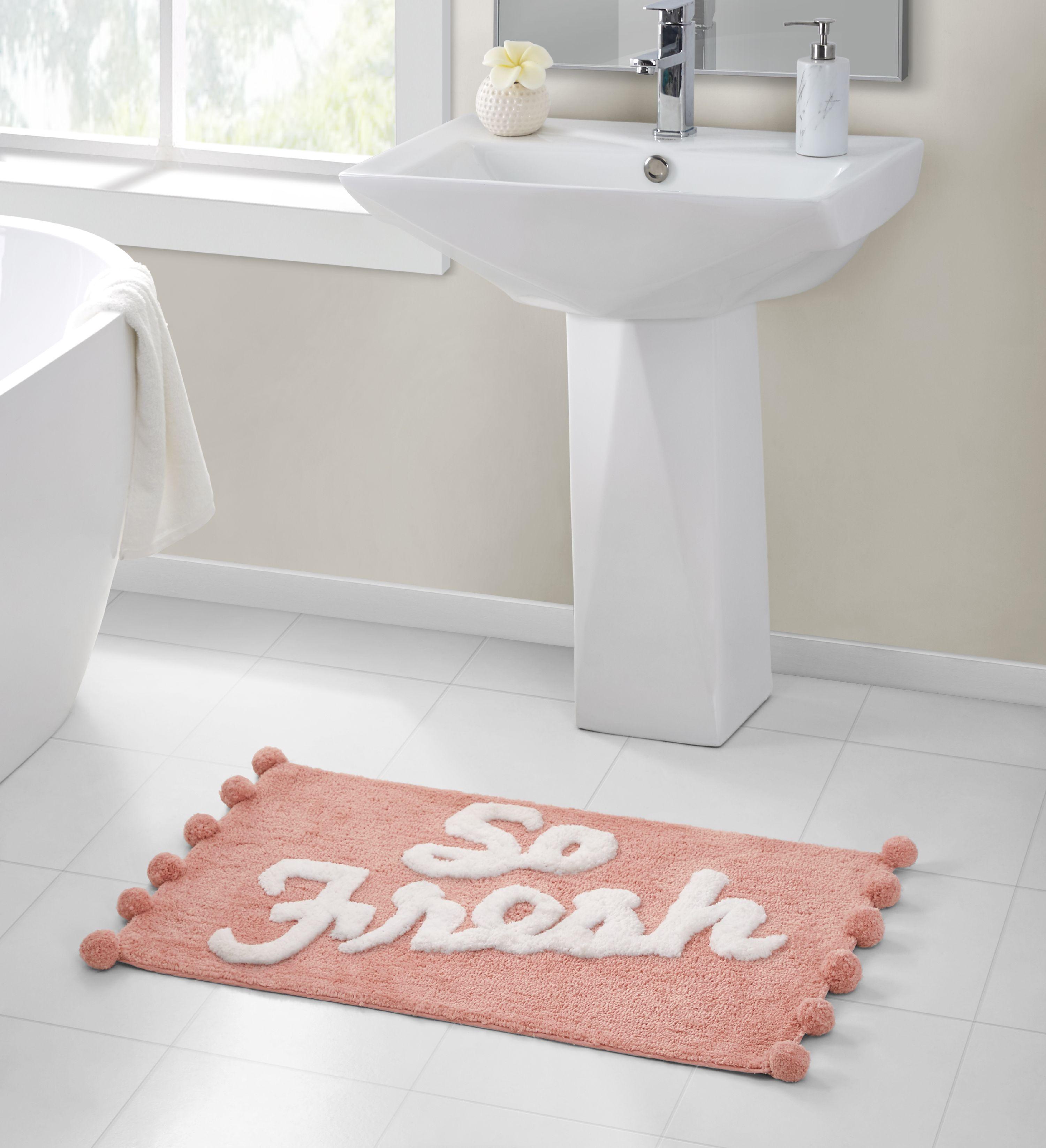 So Fresh Pom Pink Bath Rug