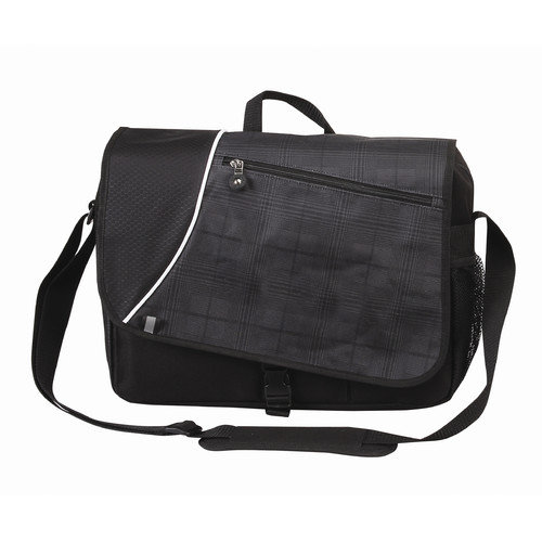 Bellino Matrix Plaid Laptop Messenger