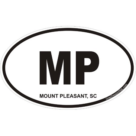 3.8 Inch Mount Pleasant South Carolina Oval Decal
