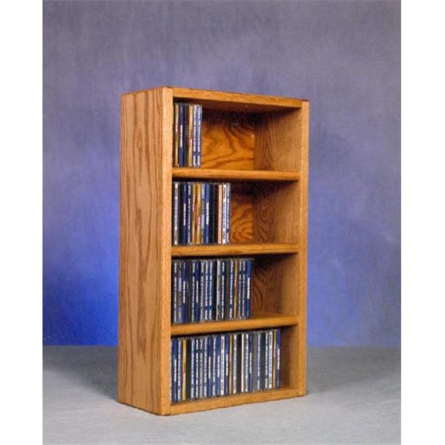 Wood Shed 403-1 Solid Oak desktop or shelf CD Cabinet