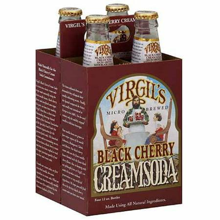 Virgil'S Black Cherry Cream Soda, 12 Fl Oz, 24