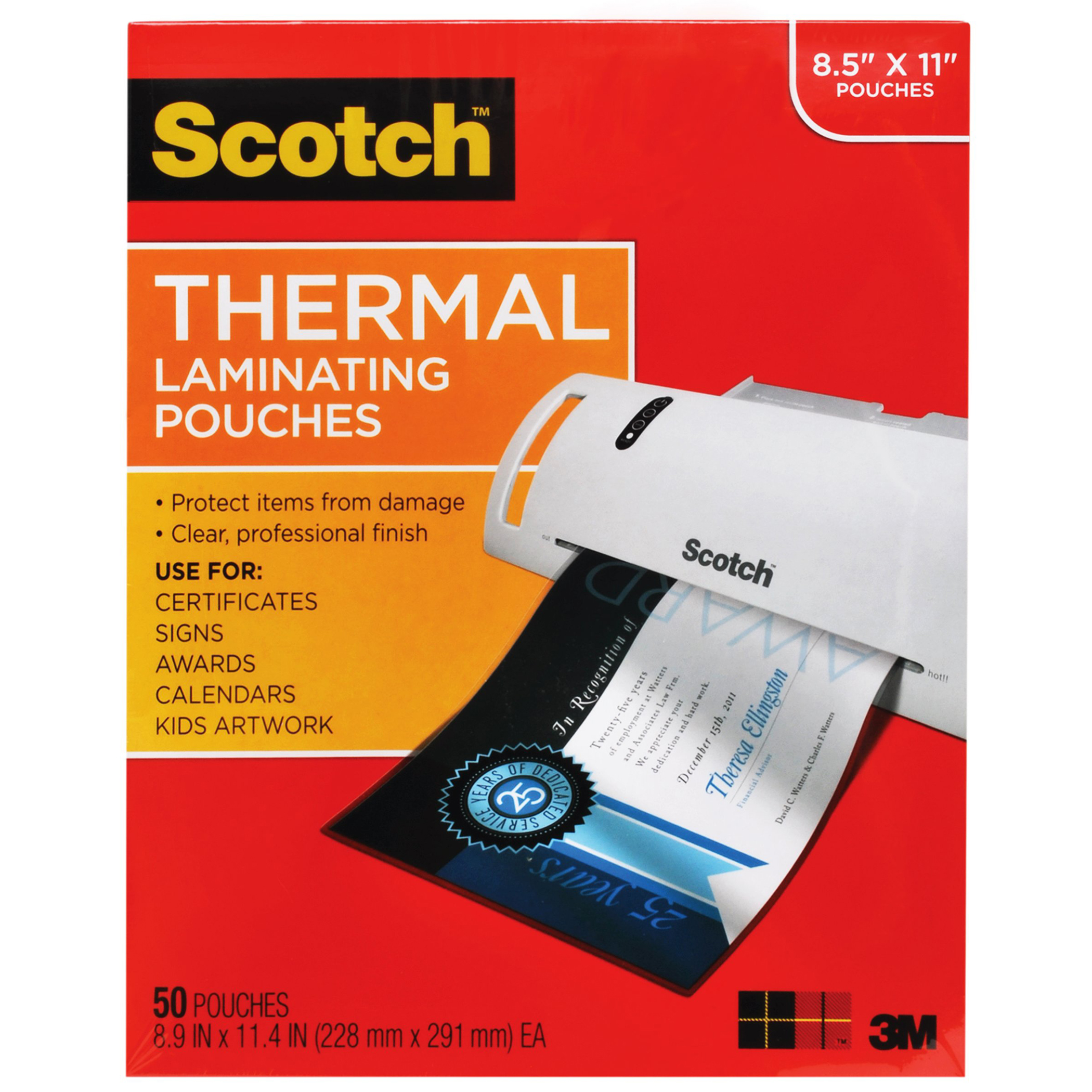 Scotch™ Thermal Laminating Pouches, Letter Size, 50/Pack