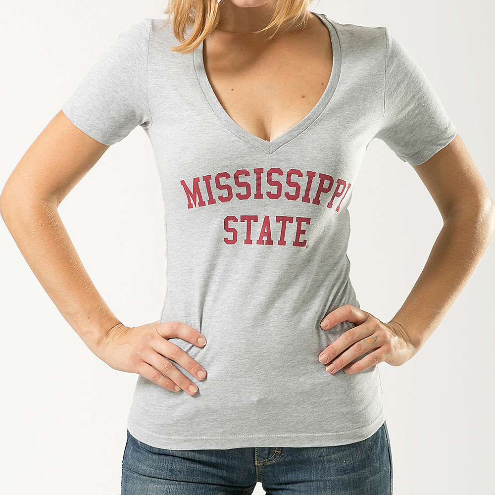 Mississippi State Bulldogs Womens Game Day T-Shirt (Gray)