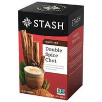 Stash Double Spice Chai Black Tea Bags, 18 Count
