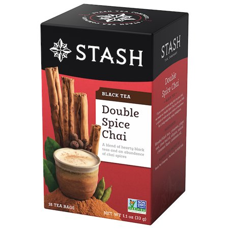 Stash Tea Double Spice Chai Black Tea, 18 Ct, 1.1