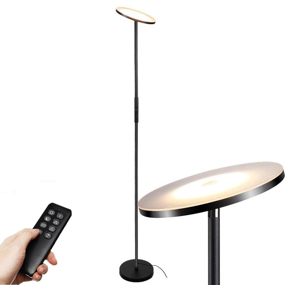 Floor Lamp Led Torchiere Floor Lamp Tall Standing Uplight Industrial Floor Lamps Stepless