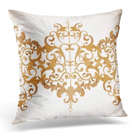Floral Damask Pattern (ARHOME Silver Antique Luxury for Patterns Baroque Damask Floral Beauty Throw Pillow Case Pillow Cover Sofa Home Decor 16x16)