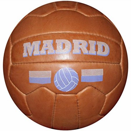Real Madrid - Vintage Leather Soccer Ball 1966 -- 100% leather