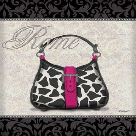 Pink Purse Square II Poster Print by Todd Williams