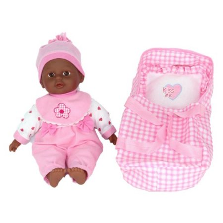 Lollipop Toys Little Princess 13-inch African American Cuddle Me Doll w/ Carrier - Me Doll