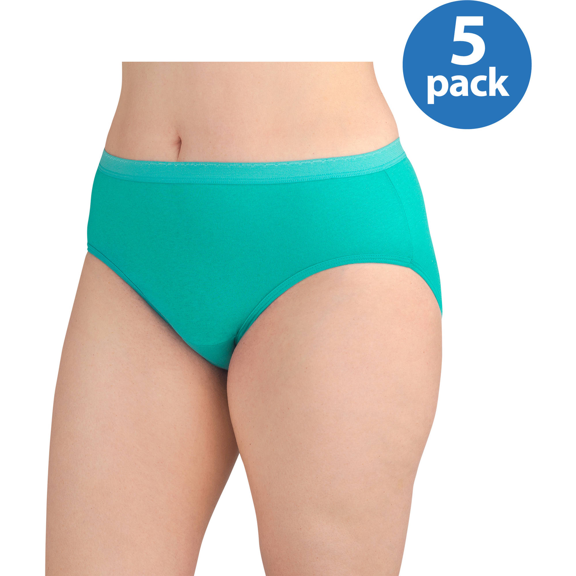 Fit for Me by Fruit of the Loom Women's Hipster, 5 Pack Plus Size Panties