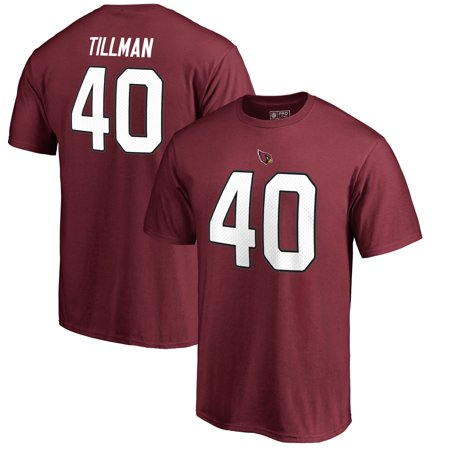 Pat Tillman Arizona Cardinals NFL Pro Line by Fanatics Branded Retired Player Authentic Stack Name & Number T-Shirt