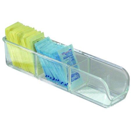 iDESIGN LINUS 66730 Sugar Packet Holder, Plastic, Clear