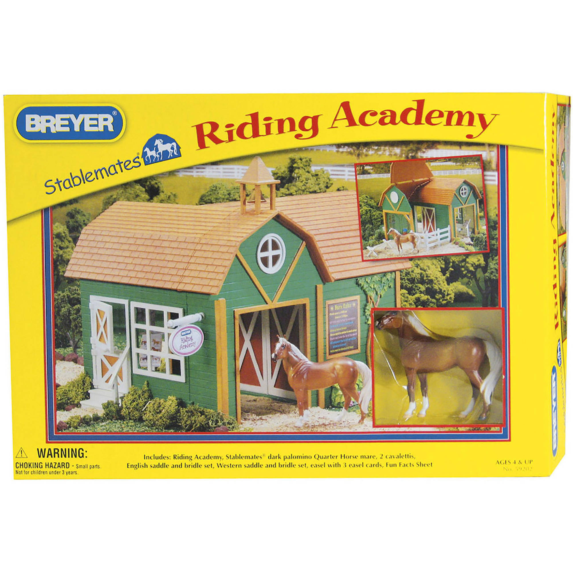 Breyer Stablemates Riding Academy Horse Barn
