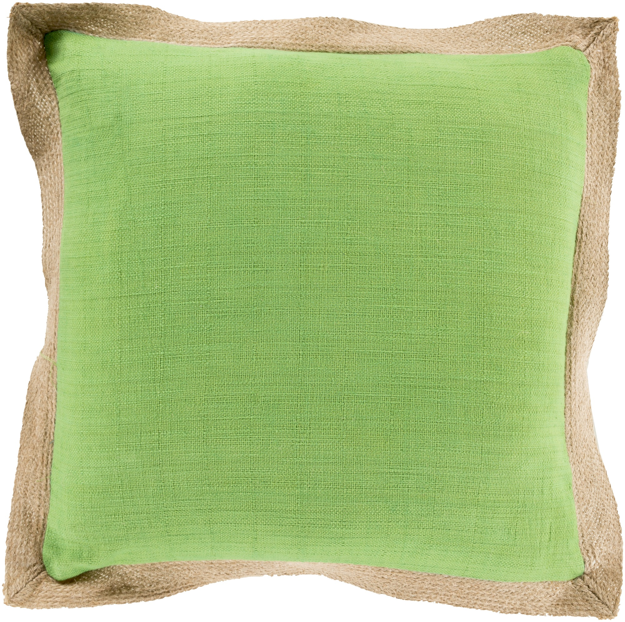 "18"" Altn Lif Apple Green and Light Taupe Decorative Throw Pillow"