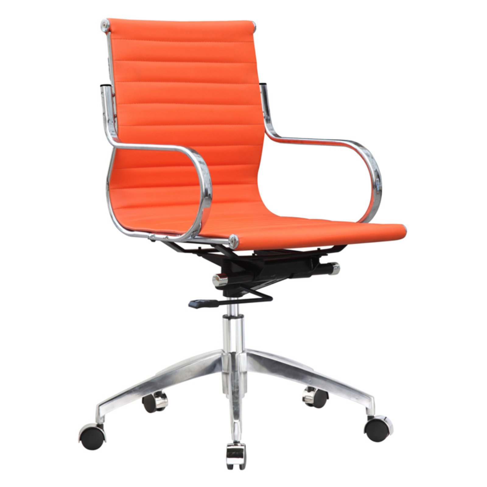 Fine Mod Imports Twist Office Chair Mid Back, Light Brown