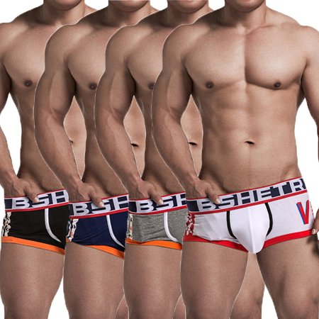 - Fashion Mens Sexy Underwear Aircraft Pants Thongs Boxer Briefs Underpants Pouch
