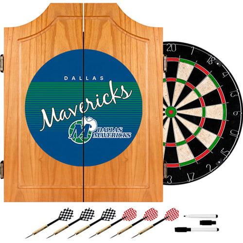 Dallas Mavericks Hardwood Classics NBA Wood Dart Cabinet