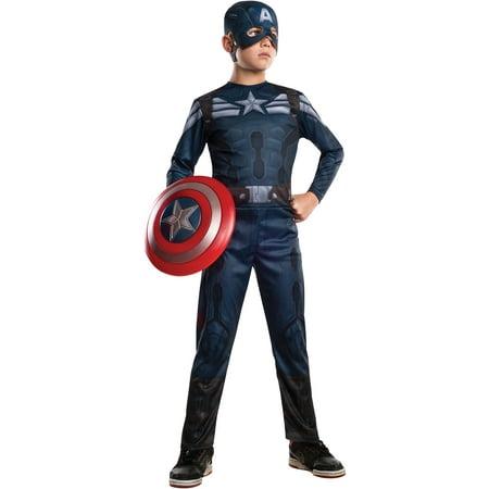 Captain America 2 Stealth Child Halloween Costume - Halloween Ship Captain Costume