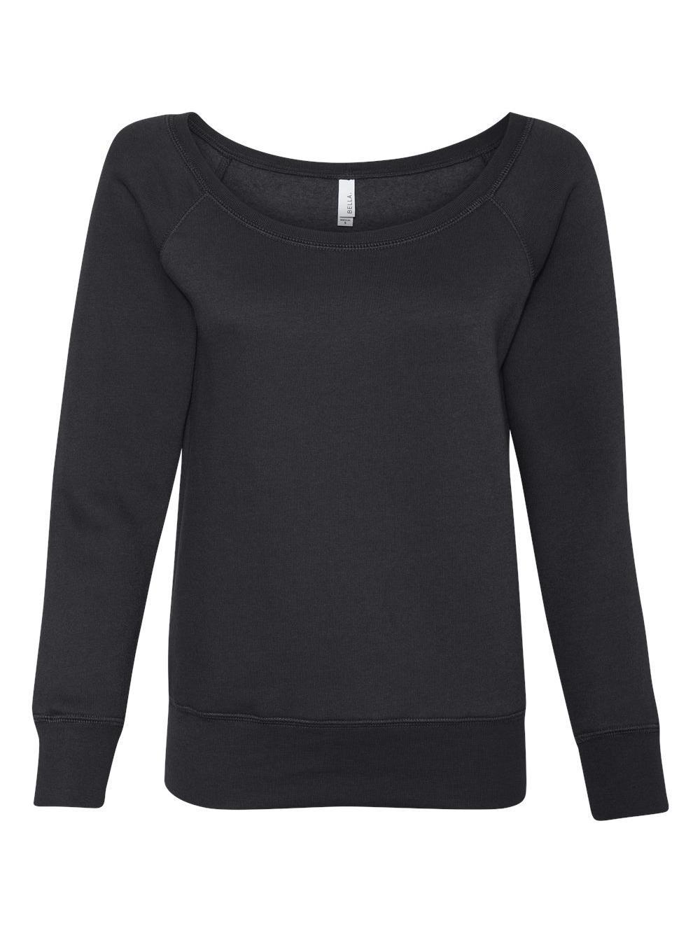 Bella + Canvas Ladies' Sponge Fleece Wide Neck Sweatshirt