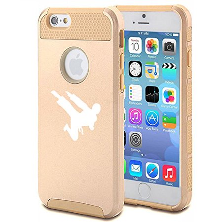 For Apple iPhone 7 Shockproof Impact Hard Soft Case Cover Ninja Karate (Gold) - The Gold Ninja
