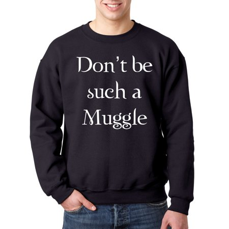 New Way 839 - Crewneck Don't Be Such A Muggle Harry Potter Sweatshirt 3XL Navy
