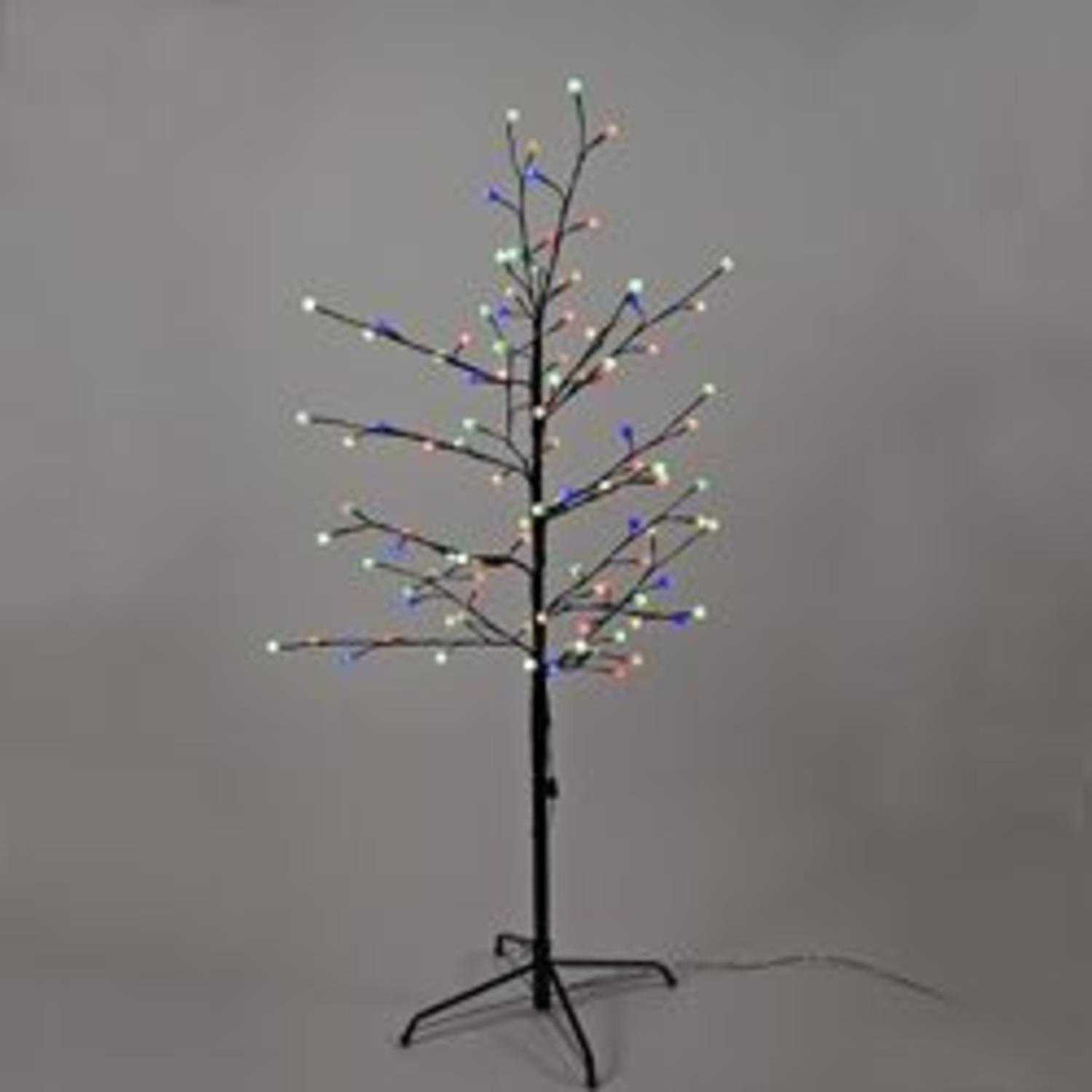 4 Led Pre Lit Brown Gumball Artificial Christmas Twig