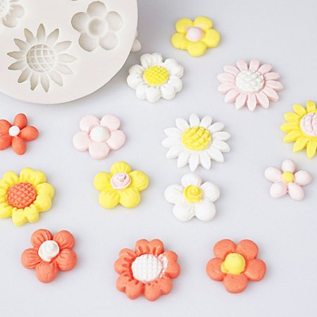 Wild cute small flower mold Silicone Mold Chocolate baking Tools Non-stick - image 3 of 6