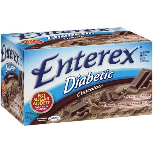 Enterex Diabetic Chocolate Nutritional Beverage, 6ct
