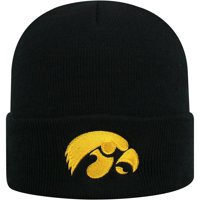 Youth Russell Athletic Black Iowa Hawkeyes Team Cuffed Knit Hat - OSFA