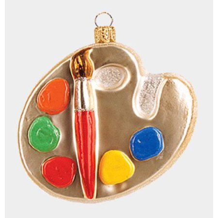 Painter's Paint Palette Polish Glass Christmas Tree Ornament Painting Decoration - Painting Christmas Ornaments