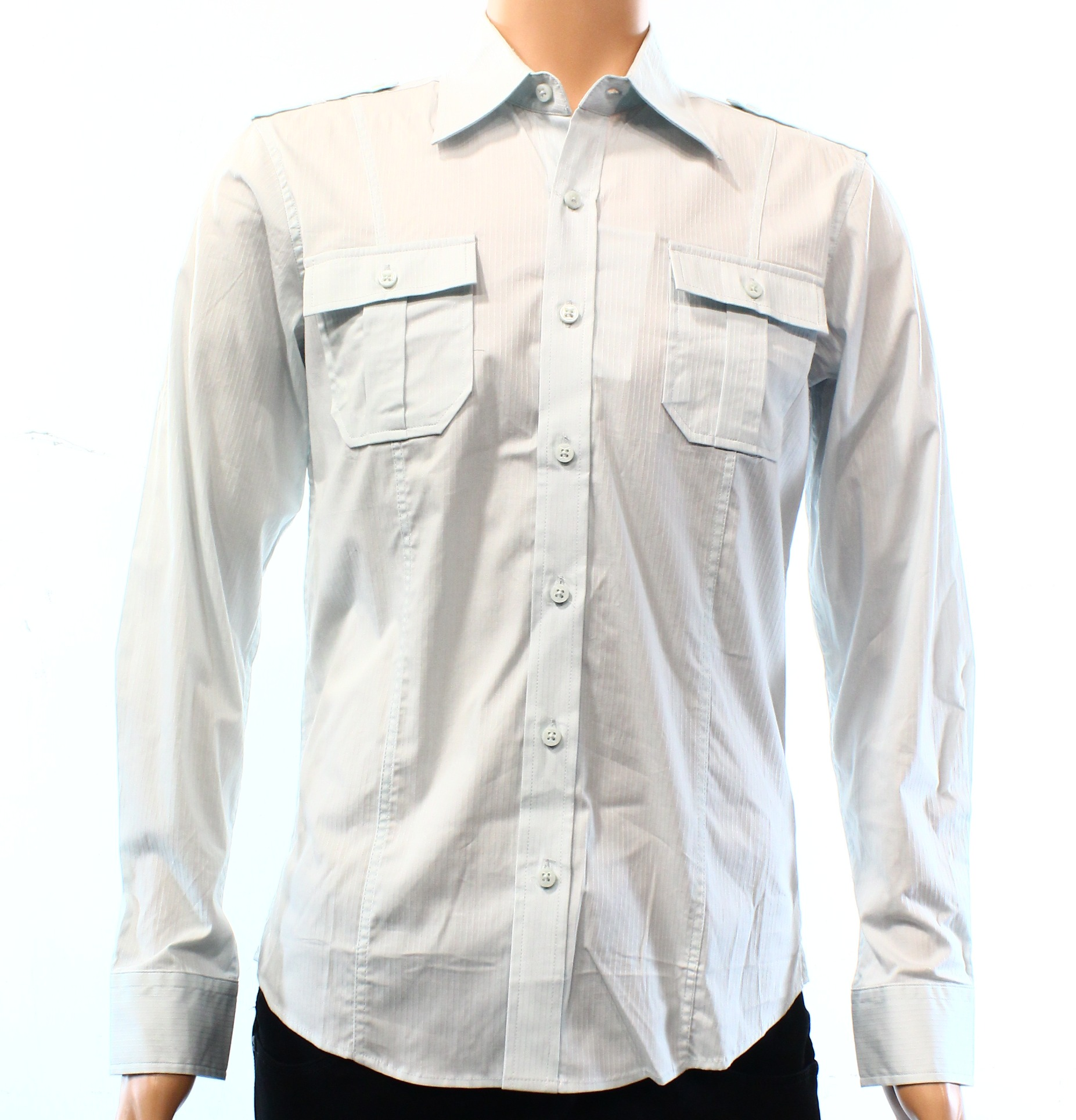 7 Diamonds NEW White Mens Size Small S Stripe Button Down Shirt
