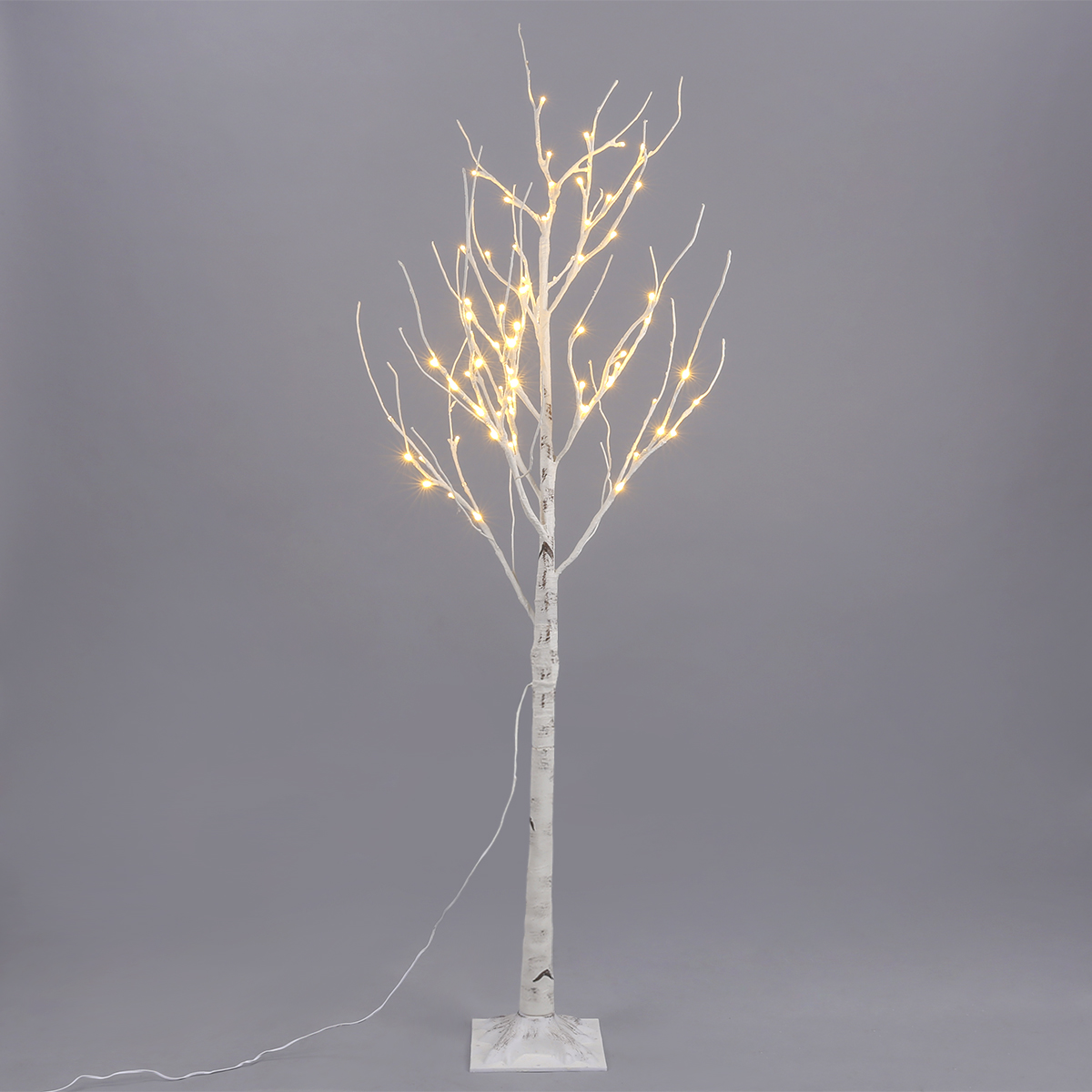 EXCELVAN 1.5M/5FT 72LED Silver Birch Twig Tree Light, Decorative Flexible  Creative Warm White Light, White Branches, Perfect for ...